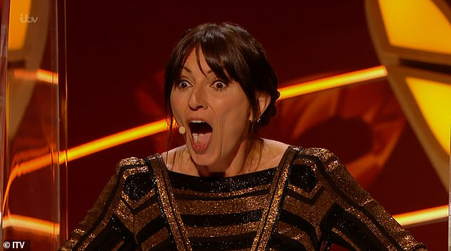 OMG! The judging panel, in particular Davina - pictured, were left gobsmacked over the celebrity reveals during Thursday's double elimination