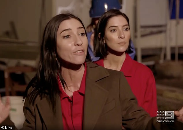 Emotional: During Tuesday's episode, Jessica and Lisa broke down in tears after an altercation with Camilla Franks over her team's electrician assisting them during a challenge