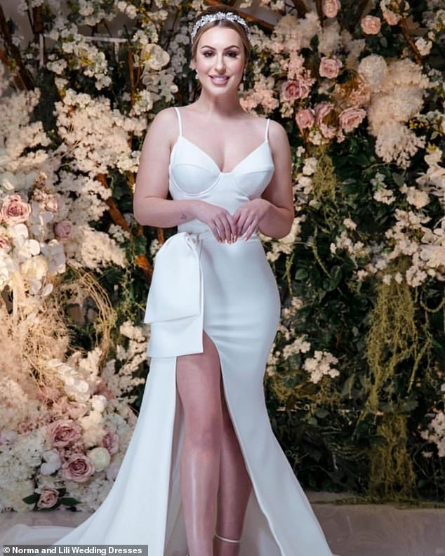 Model looks? Last year, MAFS' Aleks Markovic moved to Sydney to pursue a career in real estate, however on Thursday, the beauty made her debut as a model for a bridal company