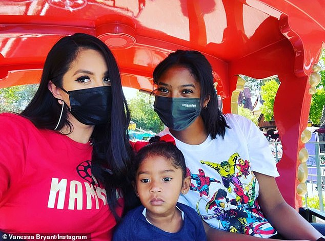 'Iron Man, Avengers and Casey Jr.!'On Thursday, Vanessa Bryant (L) and her family got a VIP sneak peek at the six-acre Avengers Campus a day before it opens to the general public inside Disney California Adventure Park