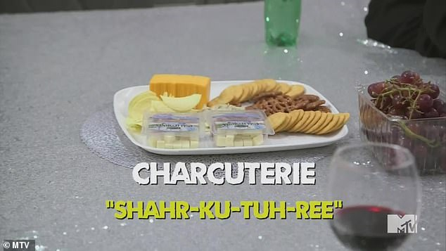 Tough word: The women struggled to pronounce 'charcuterie'