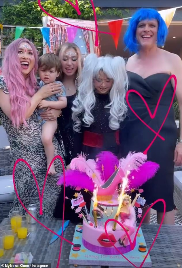 Rant: Myleene's bizarre errand comes after she furiously hit back at a troll who criticised her decision to throw a RuPaul's Drag Race themed party for her daughter Hero's 10th birthday.