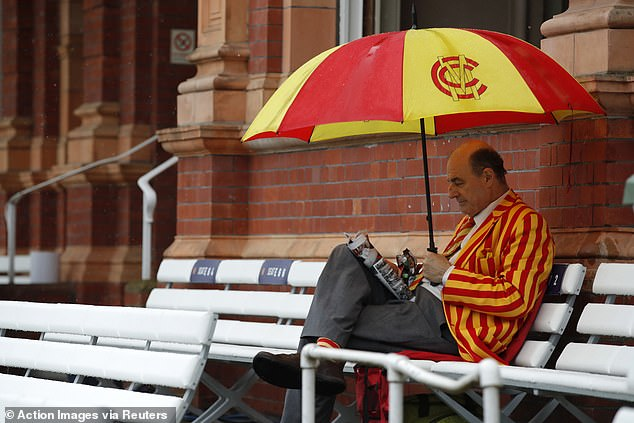 Heavy rain delayed the start of day three in England's first Test against New Zealand at Lord's