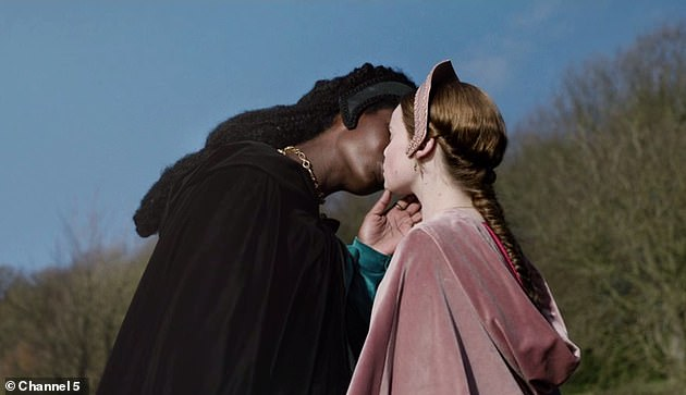 First episode:The launch of the show on Tuesday stunned fans when Jodie shared a tender kiss with love rival Jane Seymour, played by Lola Petticrew, during the first episode