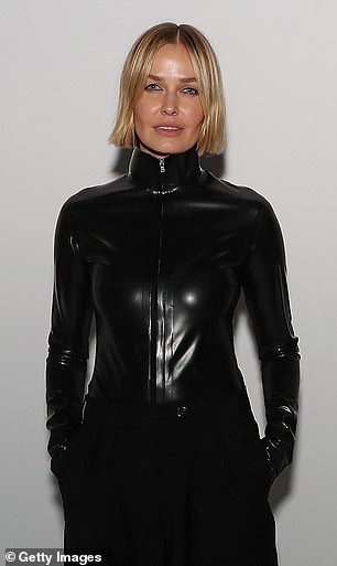 Inspiration? The 33-year-old was hard to miss in what looked like a leather top inspired by The Matrix