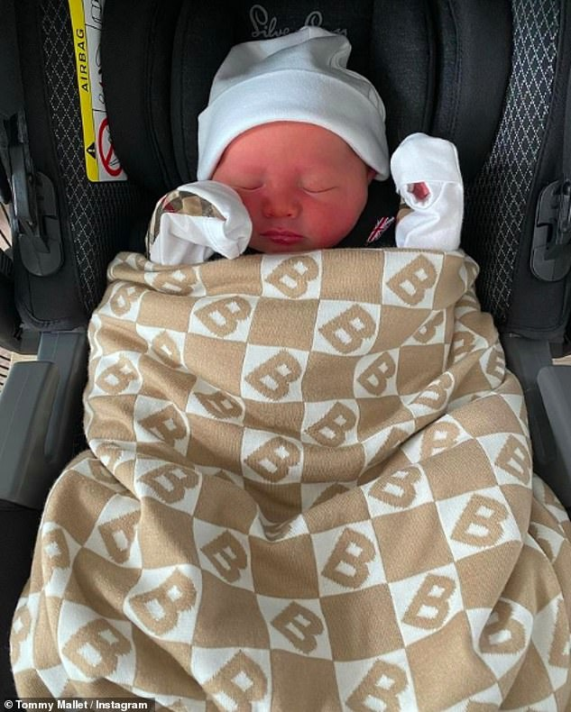 New arrival: Tommy gushed over his newborn son and declared his 'life is full' since Brody was born