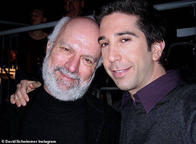 Schwimmer, who is now a producer and director himself, shared a snap of him and Friends director Jim Burrows, who he called a 'legend'