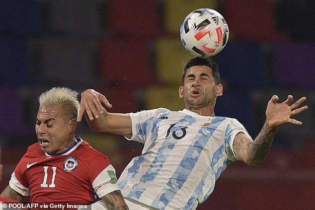 The 23-year-old made his debut for Argentina against Chile this week in a World Cup qualifier