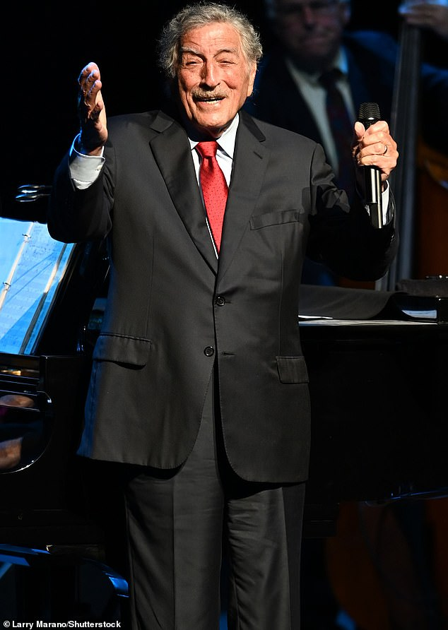 Showman:Tony's latest outing comes after it was revealed this February that he had been diagnosed with Alzheimer's five years prior; pictured onstage in Florida in December 2019