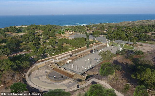 A rendering of how theAshkelon basilica should look when competed