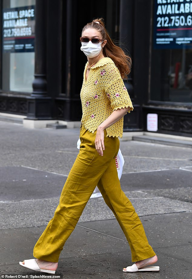 Colorful:Gigi Hadid turned quite a few heads on Friday, when she was seen rocking a colorful ensemble on the streets of New York City
