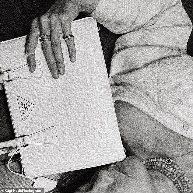 Modeling Prada on Instagram: Hadid and her partner Zayn Malik share a baby daughter Khai, who was born last September