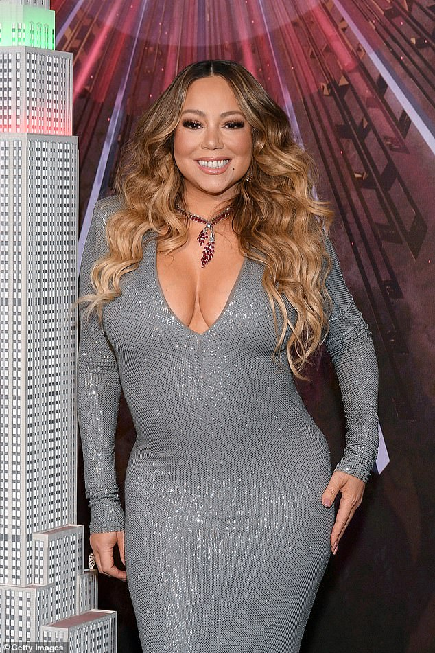 Moving on: Mariah Carey has reportedly ended her business relationship with rapper Jay-Z, just three and a half years after signing with his management company Roc Nation; seen in 2019