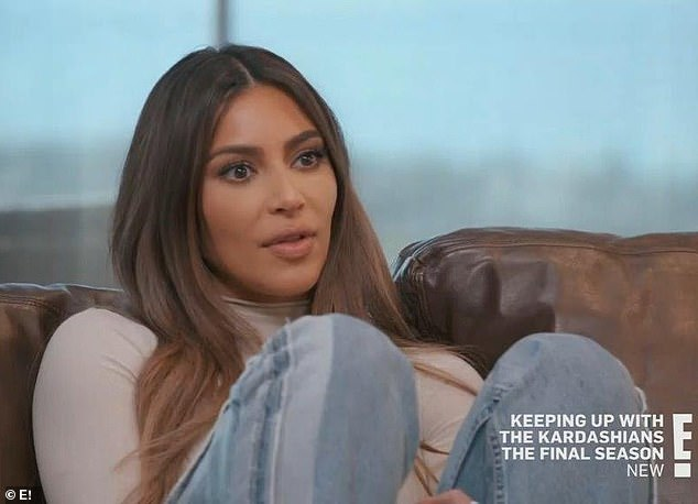 Getting real: Kardashian said she felt 'like a f***ing failure' after filing for divorce during a recently-aired episode of KUWTK