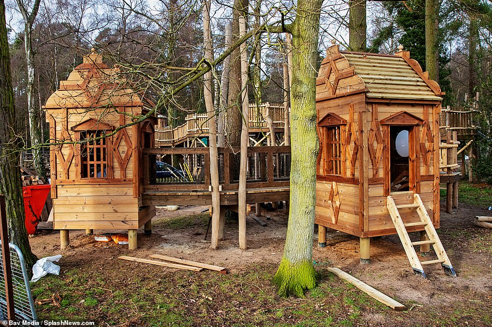 The Kate escape: The old adventure playground at the Queen's Sandringham estate in Norfolk has had a revamp