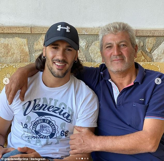 Proud parent:Strictly Come Dancing star Graziano Di Prima has revealed that his father had to be removed from the front row of the show because he couldn't stop crying