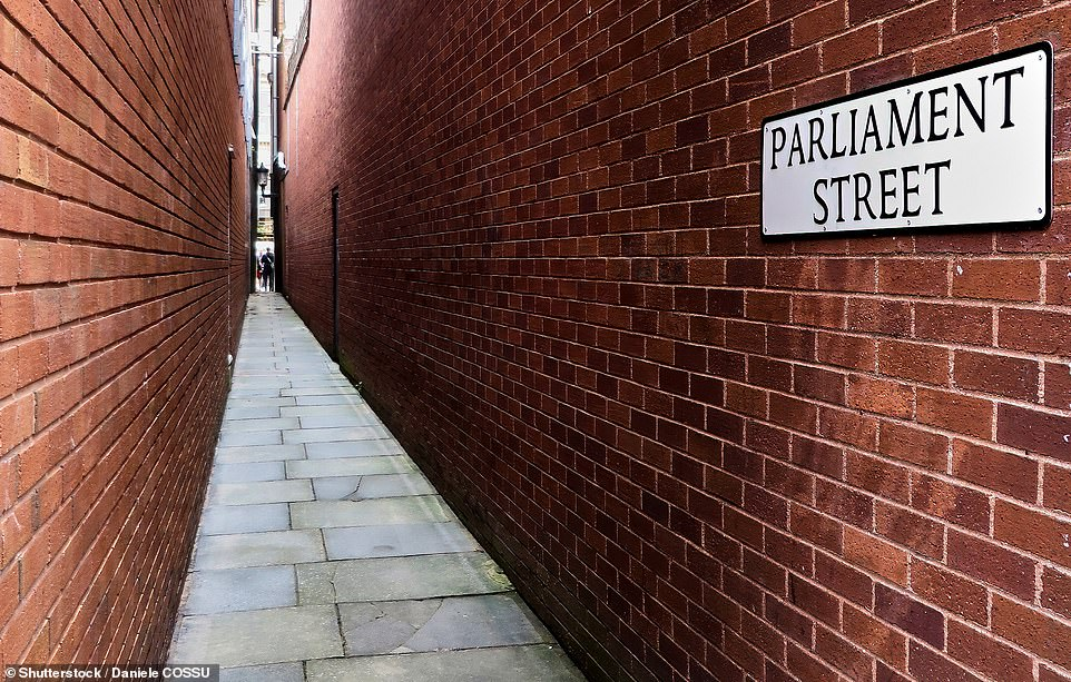 Exeter's 14th-century Parliament Street, 25ins wide at its tightest point, is the narrowest street in Britain