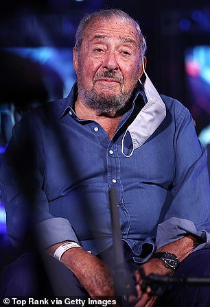 Hearn called Fury's US promoter Bob Arum (above) when the Gypsy King was told to fight Deontay Wilder