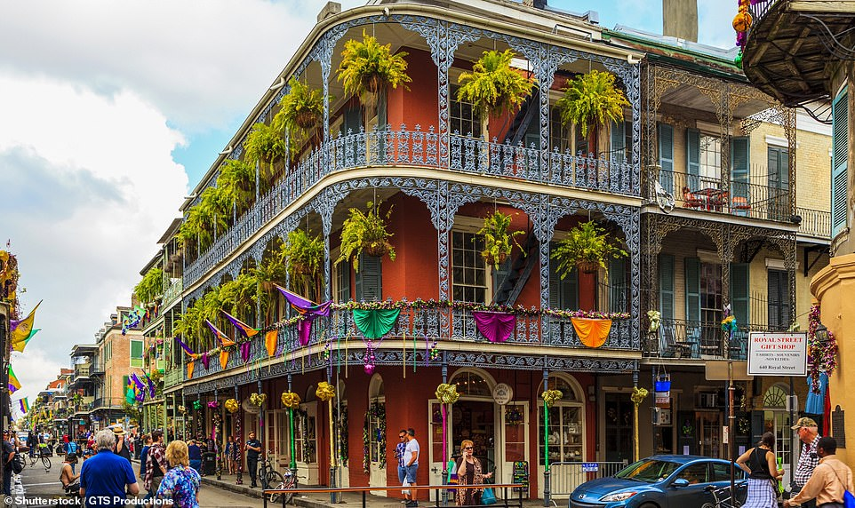 All that jazz: The colourful French Quarter in New Orleans. The city remains one of the only places in the U.S. where you can legally walk outside with an open beer
