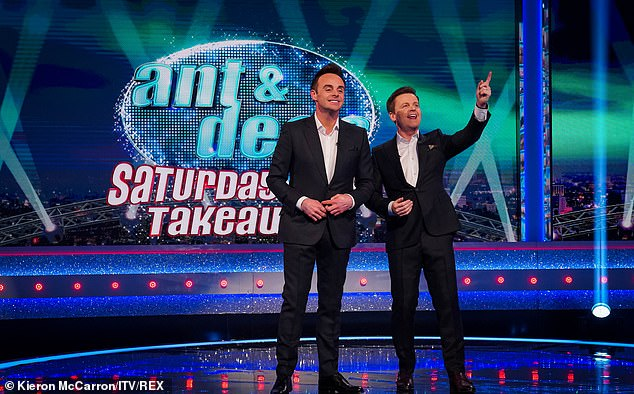 Finally: Dec said when they finally walked out onto stage on the first night of Saturday Night Takeaway this year, it was 'overwhelming', with Ant commenting that they were 'emotional'