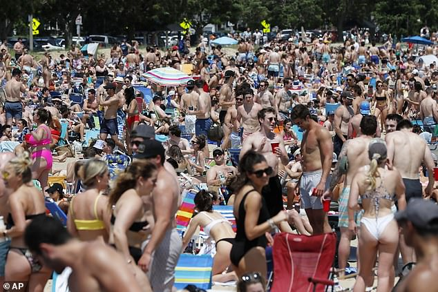 Boston, Massachusetts: The beach was filled with people trying to enjoy the heat