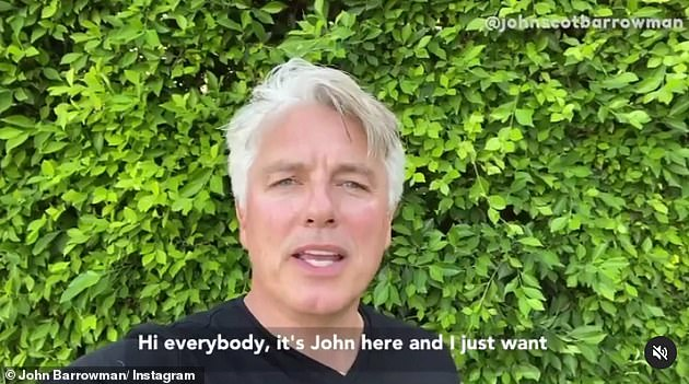 Speaking out: In May, Barrowman broke his silence in an Instagram video thanking fans for their support