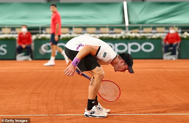 Dominik Koepfer was deducted a point for spitting on the court at the French Open
