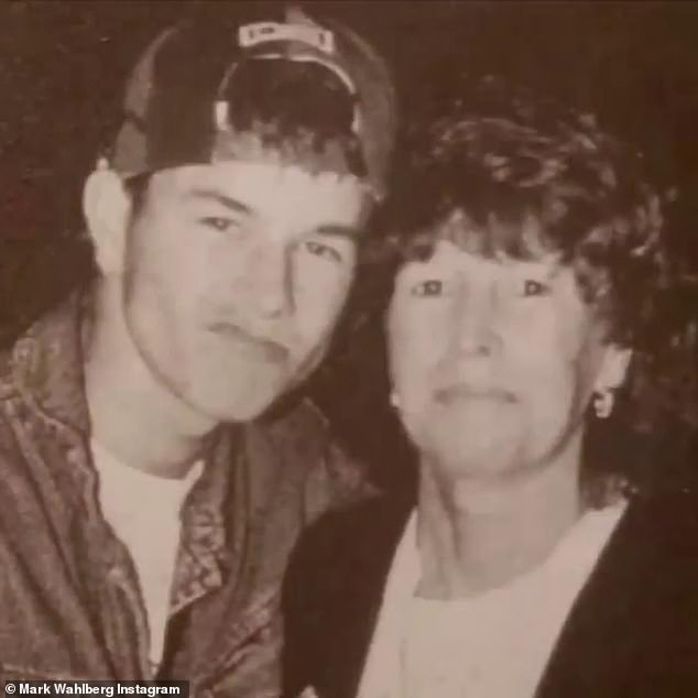 Throwback: Alma Wahlbergand her late ex-husband Donald Wahlberg had nine children together; the actor and producer appears to be pictured in late 1980s or early 1990s