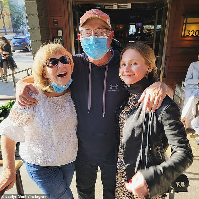 Reunited: The post comes one week after the actress was reunited with her parents for the first time in more than a year, as seen on her social media account