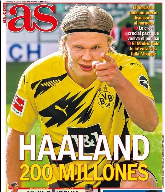 Reports in Spain claim Dortmund now have a firm£172m (€200m) valuation on Erling Haaland