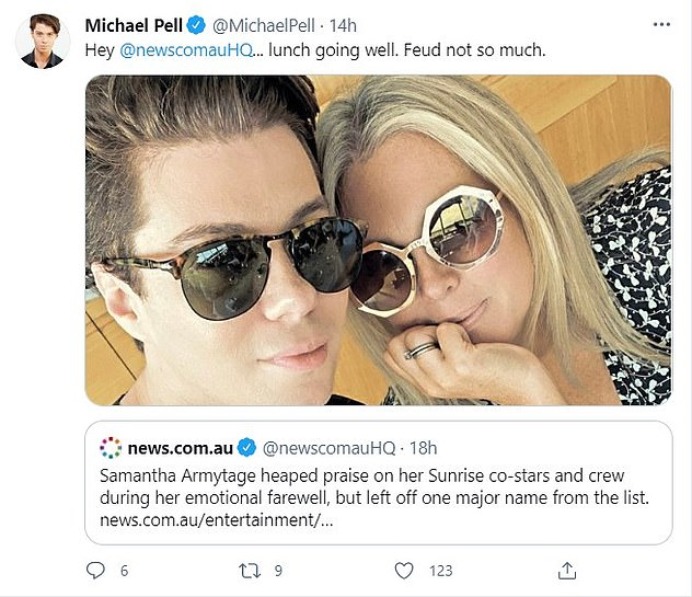 Back on:For months there had been rumours the once-close friends had fallen out. However, they shut down the gossip by cuddling up at Catalina Restaurant in Rose Bay in March, during a celebratory gathering with several high-profile Seven staffers