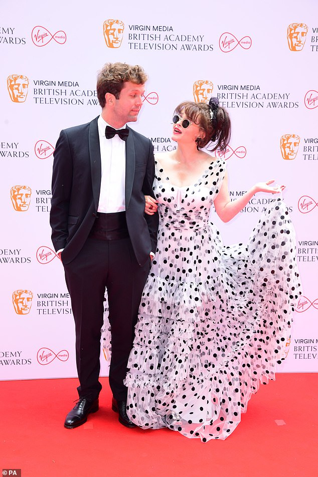 Eyes on the prize: Helena looked lovingly at her beau ahead of the BAFTA TV Awards for which she has been nominated for Best Supporting Actress for her role in The Crown