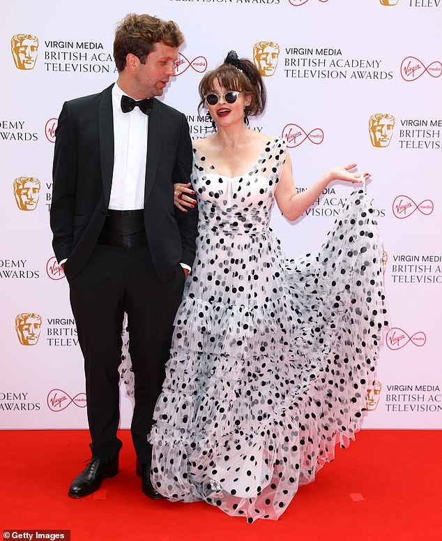 Life on film: Helena plays the role of Princess Margaret, Countess of Snowdon in series three and four of the popular Netflix show and will be hoping to take home a gong
