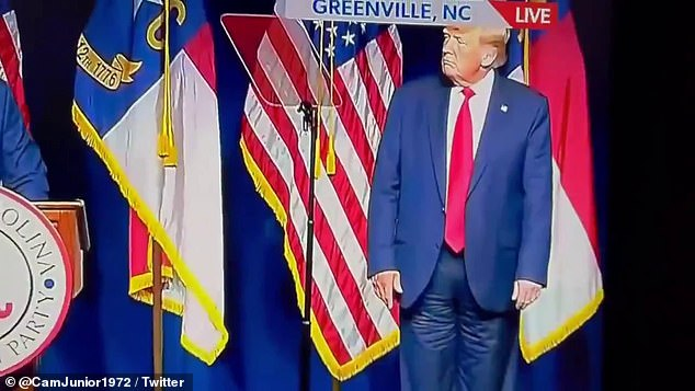 A cell phone video clip of the TV broadcast drove Trump critics into a frenzy, appearing to show him wearing pants with no front zipper fly and oddly bunched in the thighs