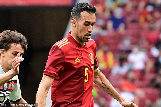 Spain captain Sergio Busquets has tested positive for coronavirus ahead of Euro 2020