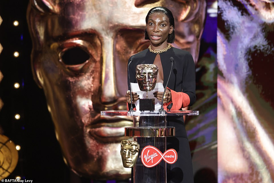 Prestigious:Sadly it wasn't a clean sweep for Normal People, as Daisy May Cooper missed out on the prestigious honour in favour of Michaela Coel, winning for her critically lauded drama I May Destroy You