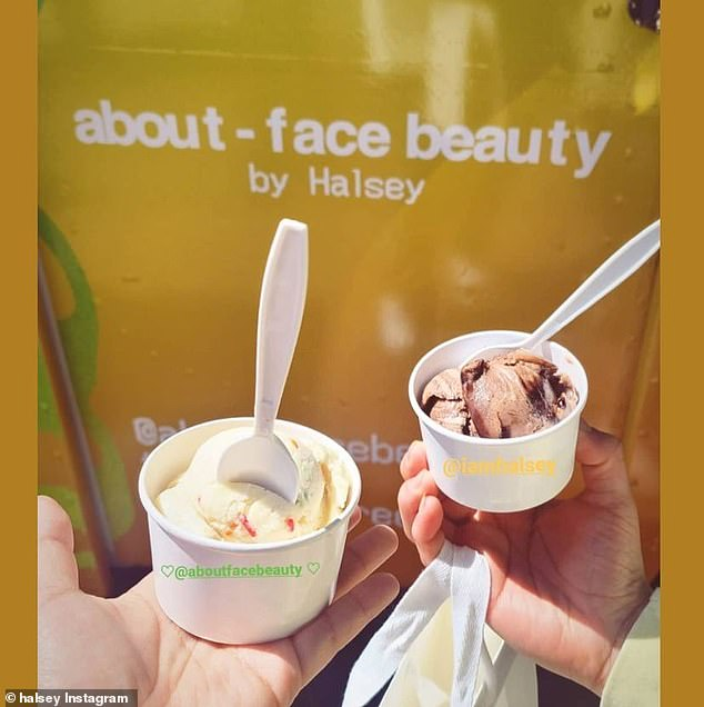 Yum! The singer shared photos of delicious-looking ice cream on her Instagram Stories
