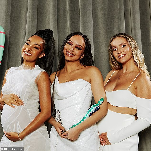A source said: 'Little Mix and Anne-Marie were supposed to be shooting the video for their new single on Monday. But just hours before, one of the crew tested positive for Covid, meaning everything had to be cancelled'
