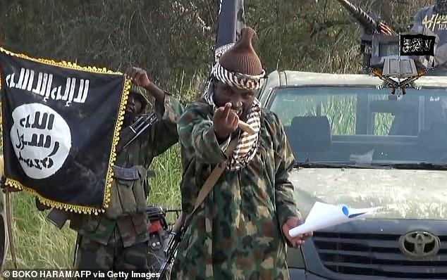 Leader of the Nigerian Islamist extremist group Boko Haram, Abubakar Shekau at an undisclosed location in Nigeria