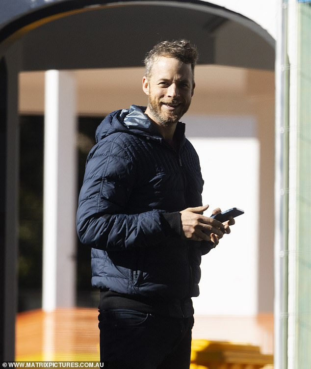 Winners are grinners:The jacket worn by Hamish retails for more than $1500