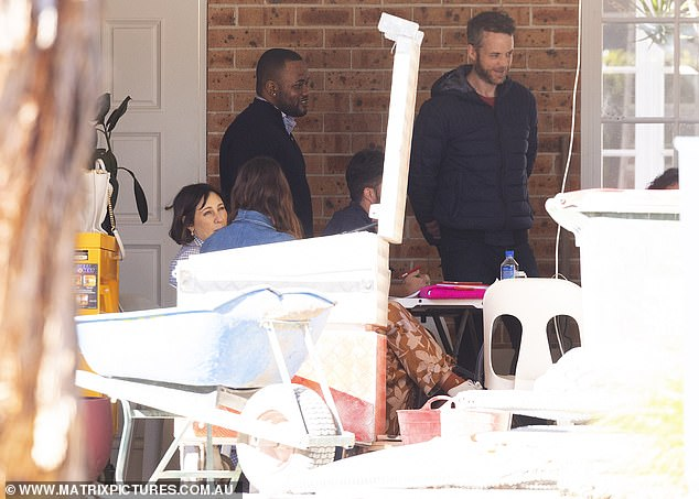 Brains trust: The pair were there to convene an on-site meeting of architect and contractors who are renovating the $9 million house purchased by the couple in the affluent Sydney suburb
