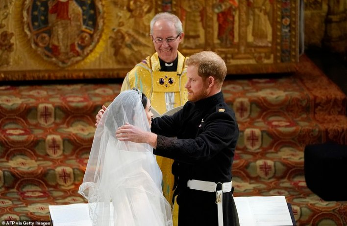 One of the Sussexes's claims Piers Morgan took aim at was that the Duke and Duchess tied the knot in private three days before their official ceremony at Windsor Castle in 2018. 'Well, that's not true. They couldn't have got married three days before they said they did because that would make the Archbishop of Canterbury a criminal,' Mr Morgan said