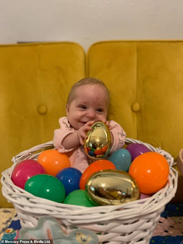 What a nice egg!  Abigail spent eight weeks in the hospital after she was born, and was diagnosed with the rare condition microcephalic osteodysplastic primordial dwarfism type II?