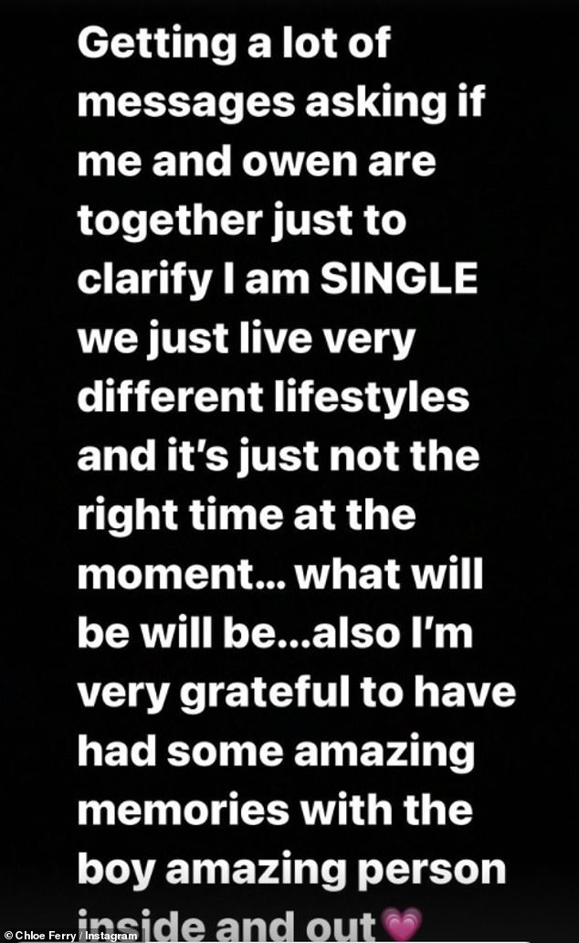 Statement: She penned a lengthy caption on her Instagram Story where she clarified she was single