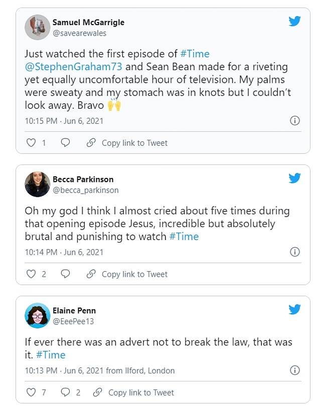 Weighing in: Fans flocked to Twitter to give their take on the gritty show