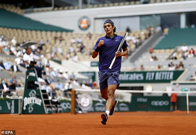 The Italian was on the verge of a huge upset after taking the first two sets against Djokovic