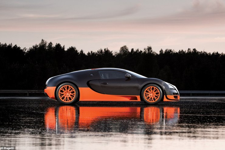 This is the 2010 Veyron 16.4 Super Sport, which boasted 1,183bhp and a top speed of 268mph. It was the fastest road car in the world for four years