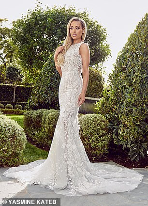 Luxury: From pearl and rhinestone encrusted show-stoppers to gowns with sophisticated and structured slits, the spectacular pieces were created with all different types of high-end brides with a high-end budgets in mind