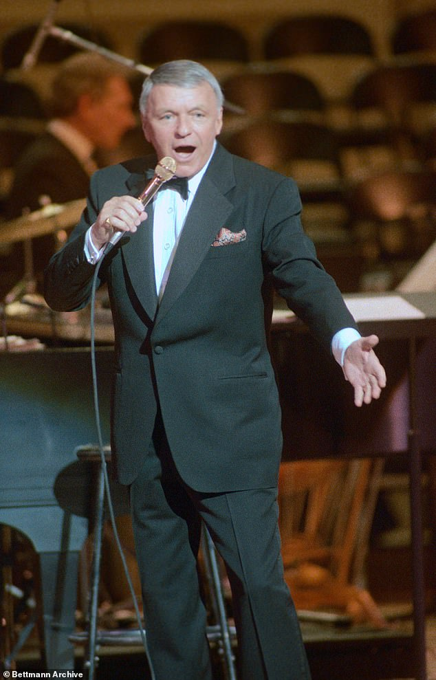 'If Ronan had been Frank's son, Frank would have acknowledged him': Tony claimed Sinatra (pictured in 1986) was too ill following his emergency diverticulitis surgery in late 1986, and that his schedule nine months before Ronan's December 1987 birth was too busy