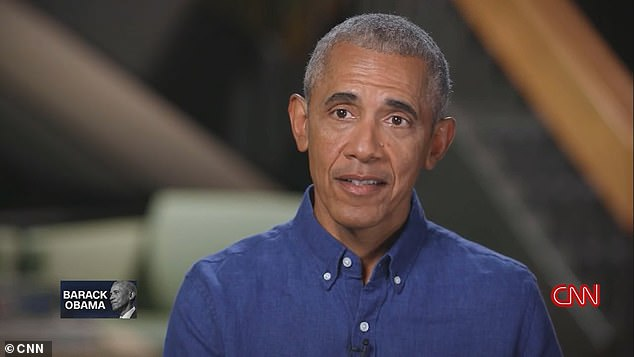 Barack Obama has admitted that cancel culture can go 'overboard' as he slammed Republicans who 'cowed into accepting' Donald Trump's false election fraud claims and accused the conservative media of 'stoking the fear and resentment' of white Americans